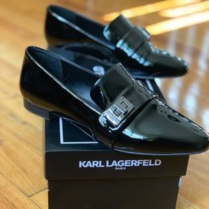 Patent Leather Black Flats/Loafers